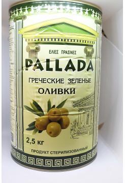 Зеленые оливки PALLADA Large 231-260 ж/б (2,5 кг) С/К