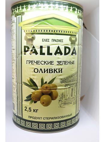 Оливка зеленая S.S.MAMMOUTH размер 70-90 шт на кг, жесть банка, сухой вес 2,5 кг