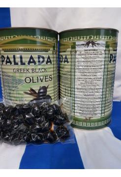 """Черные оливки """"PALLADA"""" S.S.MAMMOUTH 70-90 ж/б (2,5 кг) С/К"""