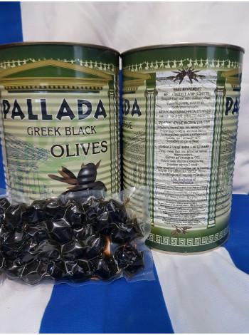 Оливки черные с косточкой в жесть банке Паллада Греция 2,5 кг, размер S.S.MAMMOUTH 70-90