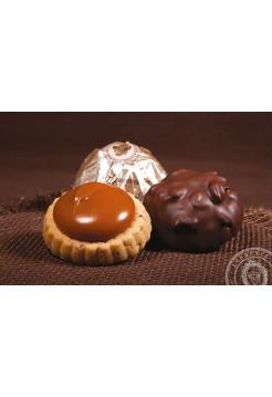 Конфеты молочный и черный шоколад Адриано карамель Laurence