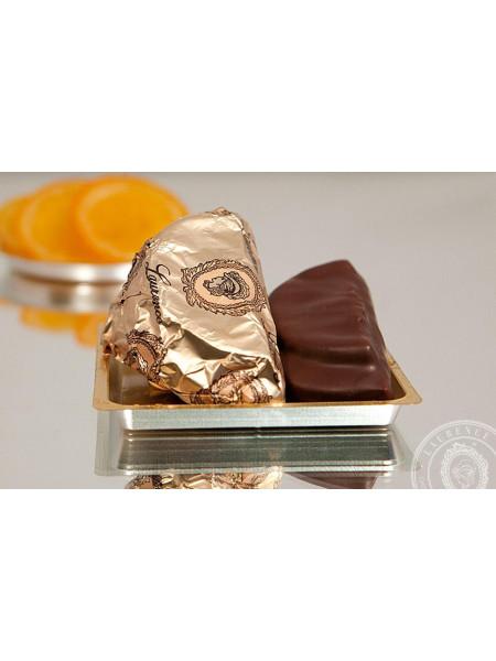 Конфета Марципан Апельсин черный шоколад Laurence
