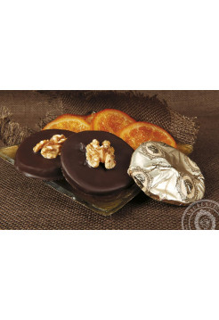 Конфета Апельсин - Орех черный шоколад Laurence