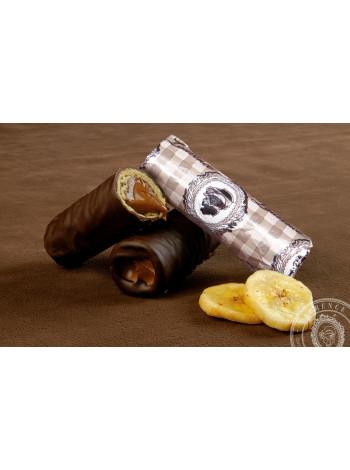 Конфета Паураки - Банан черный шоколад Laurence Греция