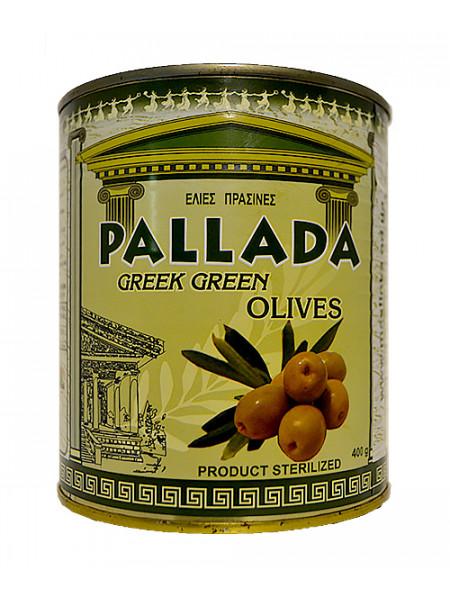 Зеленые оливки PALLADA Giants 141-160 ж/б (0,4 кг) С/К
